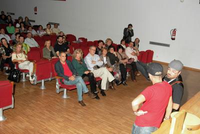 Luís e Josiño, na area, fronte ao público