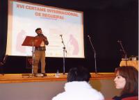 MANOLO PIPAS PRESENTANDO A XORNADA DO SÁBADO DÍA 1 DE FEBREIRO